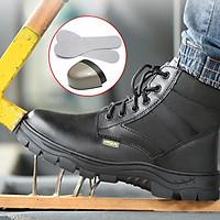 Giày Bảo Hiểm Lao Động Mùa Đông Giày Bảo Hộ Lao Động Nam Chống Đập, Chống Đâm Thủng Và Chống Lạnh Giày Bảo Hộ Lao Động