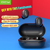 QCY M10 TWS Earphones BTV 5.0 Headset Sports Wireless 3D Stereo Mini Earbuds In Ear Dual HD Microphone AAC Codec With