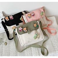 Túi vải nữ, túi đeo chéo nhiều phụ kiện đáng yêu PK 461