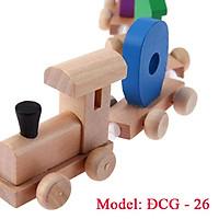 Bộ đồ chơi đoàn tàu số học bằng gỗ