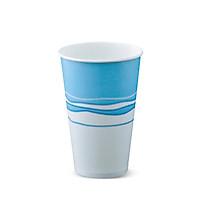 Ly giấy lạnh thương hiệu Detpak-Dung tích 480ml-16oz-Igloo in họa tiết xanh dương nền trắng-30 ly/gói