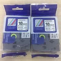 Combo 02 nhãn in TZ2-241 tiêu chuẩn - Chữ đen trên nền trắng 18mm - Hàng nhập khẩu