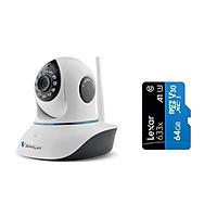 Camera IP Wifi VStarcam C38s 2.0 - Full HD 1080p , Lắp trong nhà , camera không dây , Kèm thẻ nhớ 64GB A1 Lexar  - Hàng chính hãng