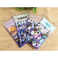 Bộ 12 hình dán tấm sticker Vương Tuấn Khải idol kpop TFBOYS