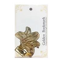 Bookmark kim loại mặt dây chuyền sáng tạo - Hoa lily vàng