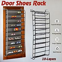 Large Capacity Door Shoes Rack Organizer Door Back Hanging Storage Holder Hanger Bag Closet Black