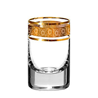 Set Ly Pha Lê Tiệp Mạ Vàng Cao Cấp Bohemia 45ml -Quà Tặng Tân Gia, Khai Trương, Họp Mặt, Tặng Đối Tác