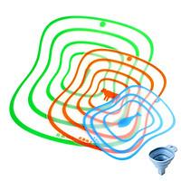 Bộ 3 Thớt Nhựa Dẻo Chống Khuẩn Dễ Dàng Lau Rửa (Giao Mầu Ngẫu Nhiên) - Tặng 01 Phễu Rót Dung Dich Silicon