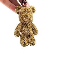 Móc Khóa Gấu Popobe Đính Đá Vàng