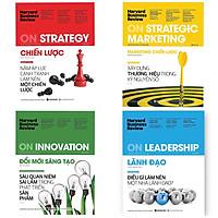 Combo 4 Cuốn HBR : HBR On Innovation - Đổi Mới Sáng Tạo + HBR On Strategy - Chiến Lược + HBR On Strategic Marketing - Marketing Chiến Lược + HBR On Leadership - Lãnh Đạo + Móc Khóa Theo Bookset