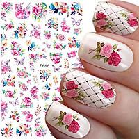 Sticker nails - hình dán móng 3D hoa 666