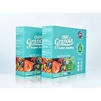 OHH Granola  Ngũ Cốc Hạt Mix Trái Cây Sấy Best Seller TIKI - Tiết Kiệm Combo 2 Hôp (Sung Mỹ, Chà Là Israel, Nam Việt Quốc)- Ăn Sáng -  Dòng Super Healthy Ăn Vặ tGiảm Cân 02 hộp x 250g, Tiêu Chuẩn FDA - Hoa Kỳ