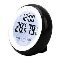 Đồng hồ báo thức, đo nhiệt độ, độ ẩm để bàn hoặc treo tường V2
