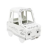 Mô hình xe ô tô bằng giấy cho  bé tô màu Z005 - Họa tiết ngẫu nhiên