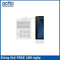 Giá kẹp sách màn hình tiện lợi Notebook Clip Actto LCP-01 -HÀNG CHÍNH HÃNG White