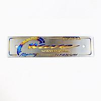 Bảng tên titanium xe Wave