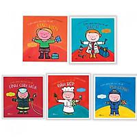 Combo cuốn sách lớn rực rỡ về : Giáo viên + Bác sĩ + Lính cứu hỏa + Đầu bếp + Phi công - Tặng kèm bookmark thiết kế