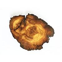 Khoanh gỗ trang trí handmade (9x10x1.5cm)