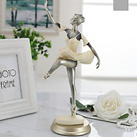 Tượng cô gái múa bale nghệ thuật - Decor đẹp để bàn (Giao màu/mẫu ngẫu nhiên)