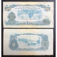 Tiền xưa Việt Nam, tờ 2 đồng Chài cá - đồng bào Thượng đi dân công