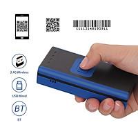 Aibecy Máy quét mã vạch mini 1D 2D QR Mini cầm tay 3 trong 1 BT & 2.4G Không dây & Đầu đọc mã vạch có dây USB Hỗ trợ quét màn hình