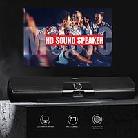 Computer Stereo Speaker USB Powered Portable Mini Sound Bar for Windows PCs Desktop Computer Laptop