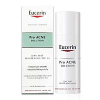 Kem Giảm Mụn Và Dưỡng Sáng Da Eucerin ProAcne Solution Day Mat Whitening SPF30 50ml