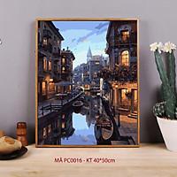 Tranh tô màu theo số cảnh đêm Venice PC0016