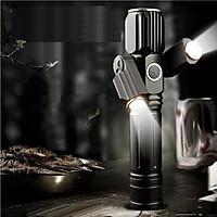 Đèn pin sạc siêu sáng 3 đầu chống nước cấp IPX6