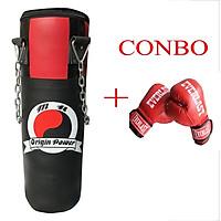 Combo võ bao cát xích cao cấp 1m + găng tay boxing