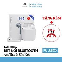 Tai nghe Bluetooth không dây Lanith i12 TWS 5.0 không dây - Tặng dây cáp sạc 3 đầu - Hàng nhập khẩu – TAI00I12W.CAP0001