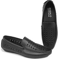 Giày lười nam đục lỗ da bò Rozalo R5801