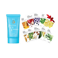 Kem chống nắng dạng tinh chất Senka Perfect UV Essence 50g tặng Mặt nạ dưỡng da The Faceshop Real Nature (1 miếng)