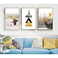 - Bộ 3 Tranh canvas giá xưởng - Tặng kèm đinh treo- Tranh treo tường thiết kế theo yêu cầu