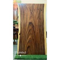 Mặt bàn gỗ me tây nguyên tấm tự nhiên KT 75x140x5cm
