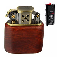 Combo Bật Lửa Xăng Đá Z506 Ốp Vỏ Gỗ + Tặng Bình Xăng Thơm Chuyên Dụng Cho Bật Lửa (Giao Màu Ngẫu Nhiên)