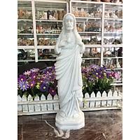 Tượng công giáo, Tượng thánh tâm chúa Giêsu đá cẩm thạch trắng - Cao 40cm