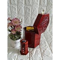 Hộp đựng gói trà gỗ hương trạm mặt tích chim hoa size lớn kèm hộp tăm - CHTT1602