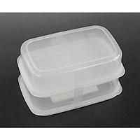 Bộ 2 set 2 hộp đựng thực phẩm nhựa PP cao cấp 450mL - Hàng nội địa Nhật