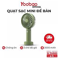 Quạt sạc mini để bàn YOOBAO F3S - 2000mAh Có 3 chế độ gió Nhỏ gọn tiện lợI- Bảo hành 12 tháng 1 đổi 1