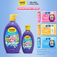 Combo Sữa Tắm Gội cho bé Carrie Junior Tinh Chất Sữa 700g + 280g