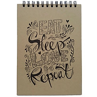 Sổ Notebook Noline - Eat Sleep Love Repeat (17.5x25cm) - Mẫu 4