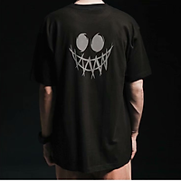【M-5XL】Fashion Short sleeve T-shirt Men Printed Smiley Pattern student couple short T-shirt unisex T-shirt Summer new style Oversize couple wear