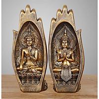 Cặp Tượng trang trí nghệ thuật Đôi bàn tay Phật - Búp sen sắp nở -Thành tựu bồ đề