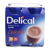 Sữa Delical vị socola - sản phẩm dinh dưỡng giàu năng lượng lốc 4 chai