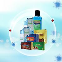 Combo1 Ở nhà an toàn sức khỏe vững vàng - Xịt mũi Greensix, nước xúc miệng diệt khuẩn Antidecay, viên bổ tổng hợp Maxpromulti, Viên cảm cúm Betafive, Vitamin C & Rutin Pytastar, Viên ngậm ho sát khuẩn họng Coughtstar