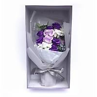 Hộp hoa sáp tím Valentine kích thước 40x20cm