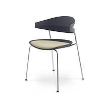 Ghế đa năng cao cấp khung kim loại dùng trong phòng họp, ngoài trời, pantry, nhà hàng, quán cafe, bàn trang điểm... mã sản phẩm K000-009/ K000-010