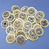 Combo 10 Đồng Xu Cổ Phong Thủy Âm Dương Bằng Đồng Kim Tiền Jewelry - Đường Kính 2,4 cm [Tặng Móc Dán Tường Treo Đồ]