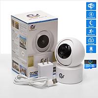 Camera Wifi An Ninh Quan Sát Trong Nhà Xoay 360 Độ Nhỏ Gọn Model CC2020, Độ Phân Giải 2.0Mpx, Kết Nối Điện Thoại, Máy Tính, Smart Tivi, Dùng APP CARECAM PRO - Kèm Thẻ 32Gb - Chính Hãng